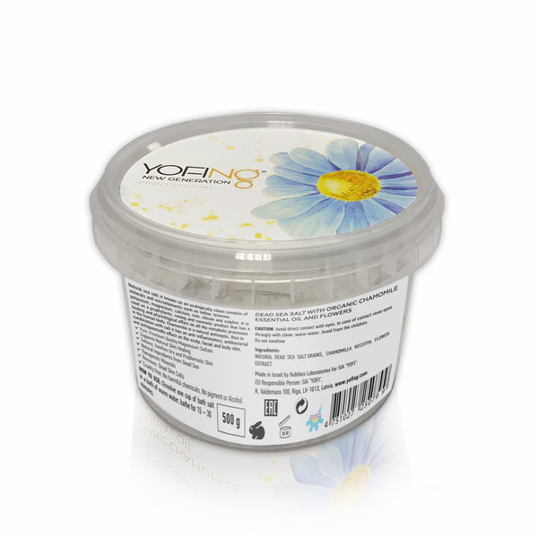YOFING - Dead Sea Salt with Organic Chamomile - DeadSeaShop-com