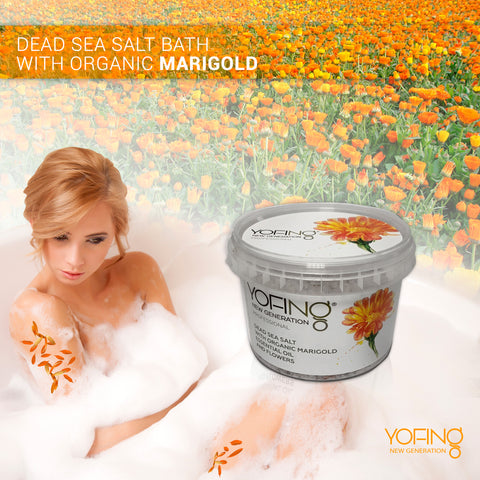 YOFING - Dead Sea Salt Bath with Organic Marigold - DeadSeaShop-com