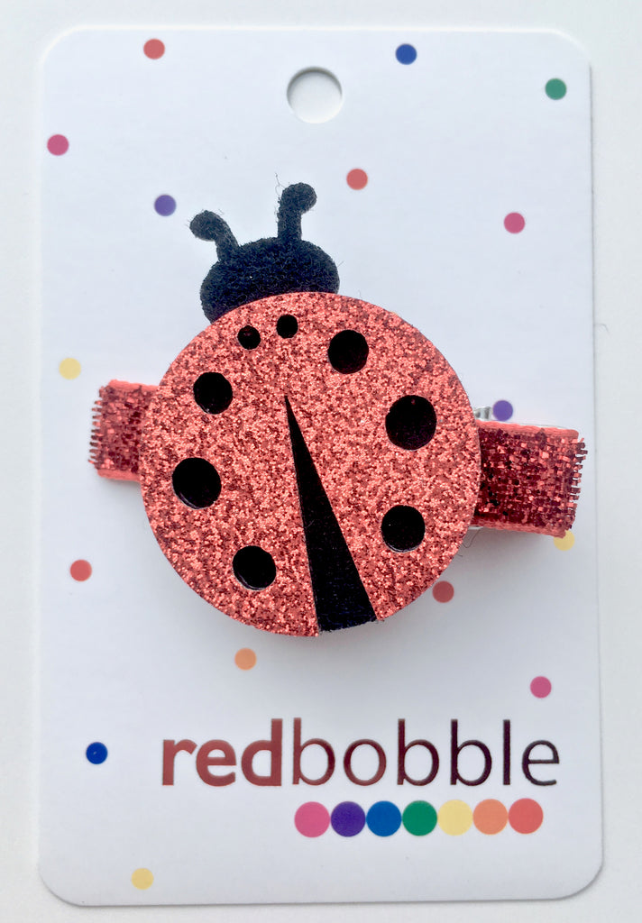 Glitter Lady Bug Hair Clip