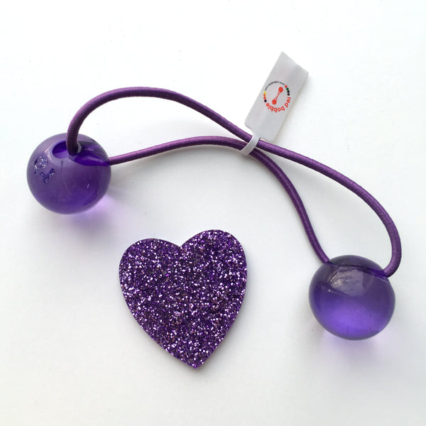 Original Patty Pan Purple Bobble Hair Ties