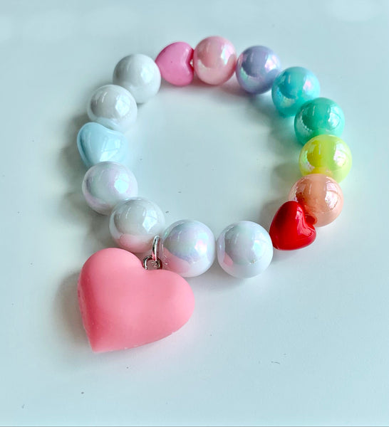 Colour Loops & Pink Hearts