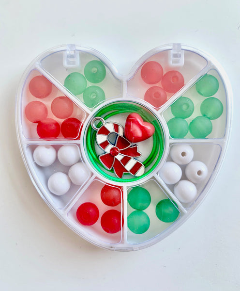 Mini Heart : Candy Cane : Bobble It Yourself Kit