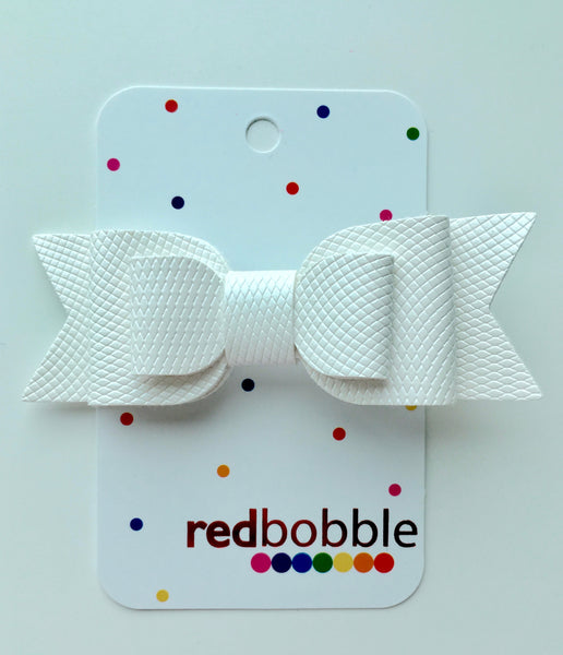 White Triple Layer Bow Hair Clip
