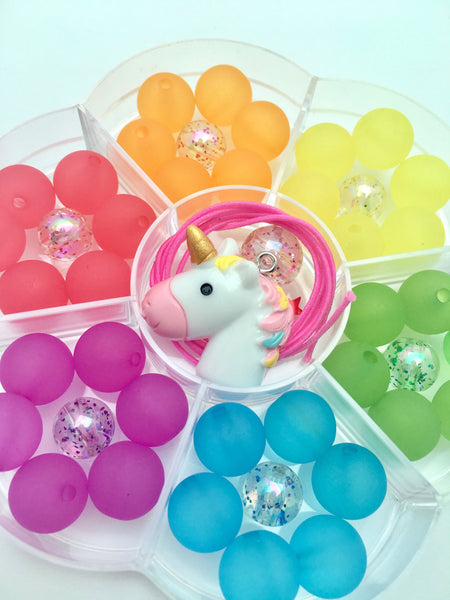 Flower with Unicorn Bobble It Yourself Kit