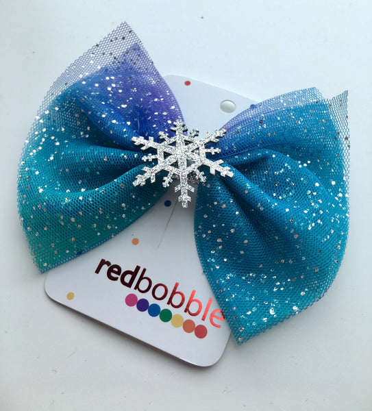 Let It Snow Hair Bow Clip