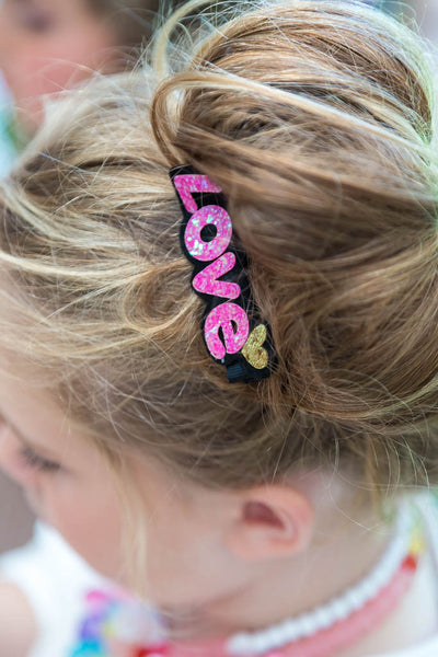Love Word Hair Clip
