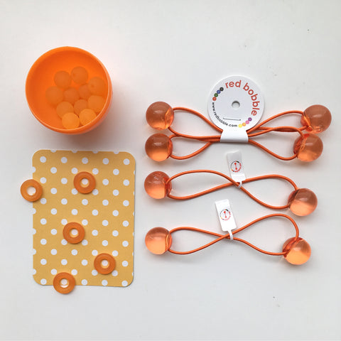 Original Orange Fanta Grin Bobble Hair Ties