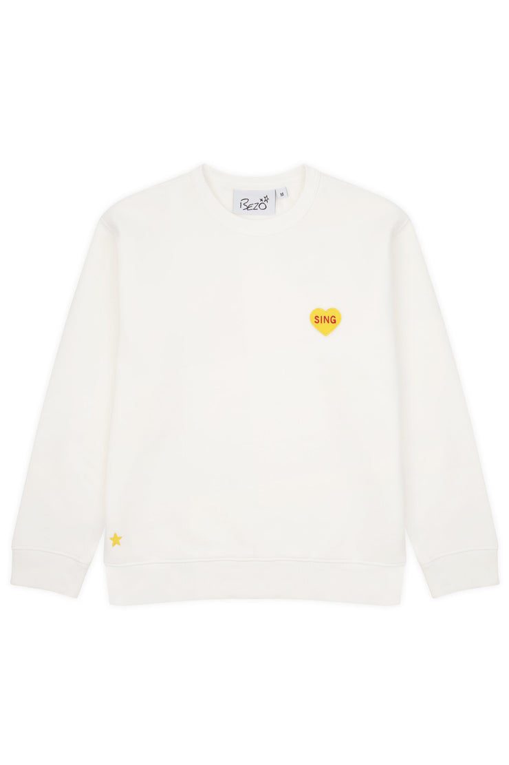 Yellow Love Heart Sweatshirt