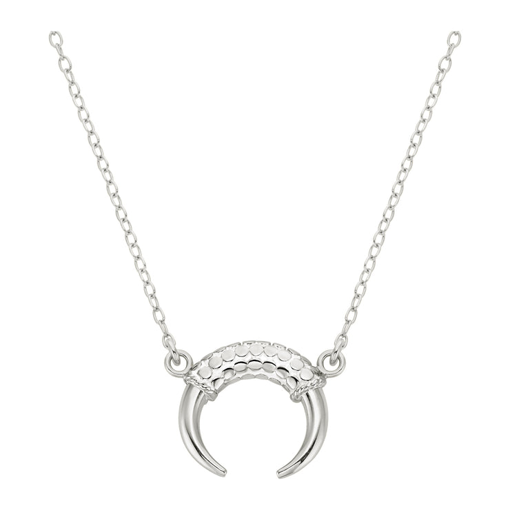 Anna Beck Horn Necklace Silver