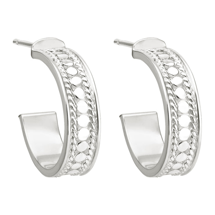 Anna Beck Hoop Post Earrings Silver
