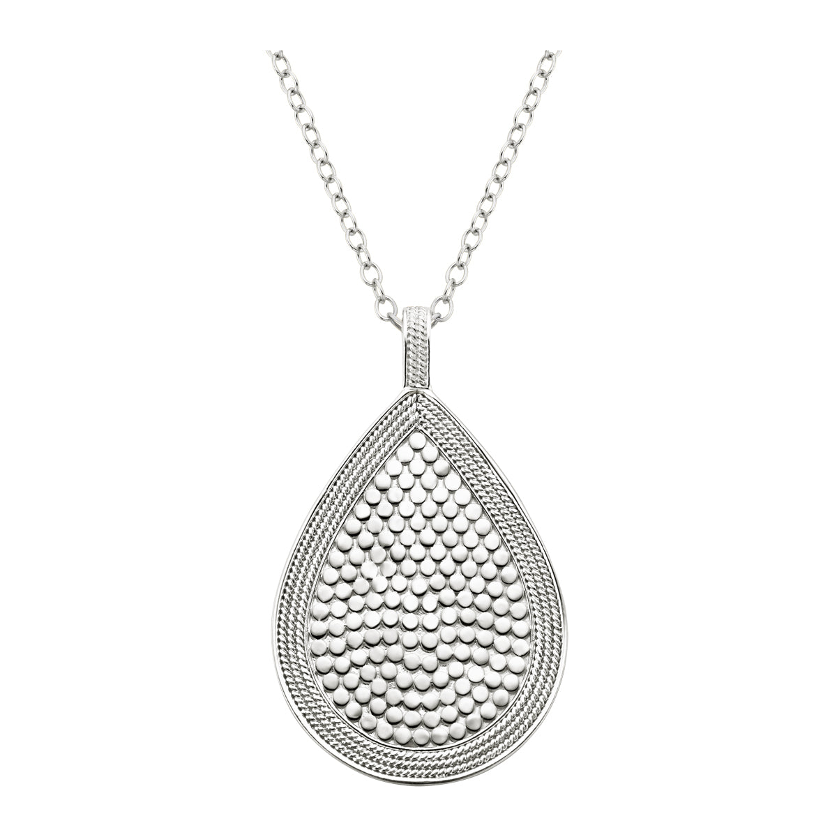 Anna Beck Beaded Teardrop Necklace Gold and Silver