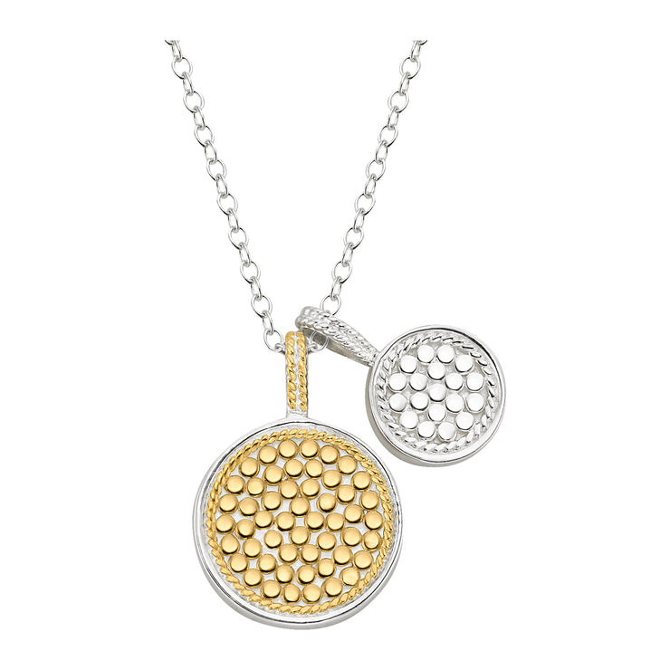 Anna Beck Double Disk Charm Necklace Gold