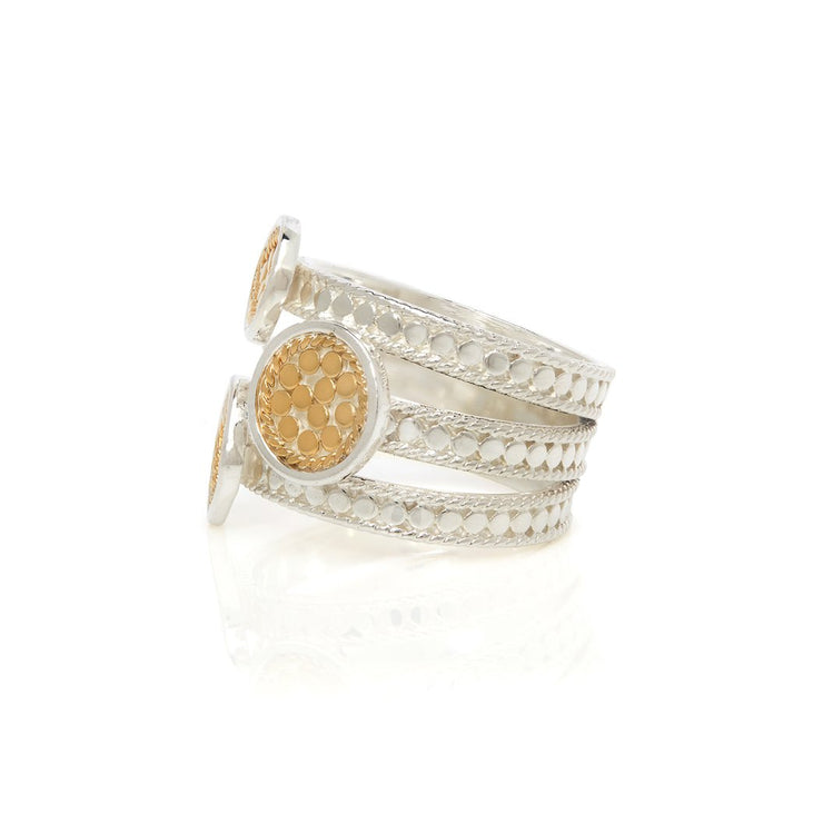 Anna Beck Signature Beaded Triple Ring Gold