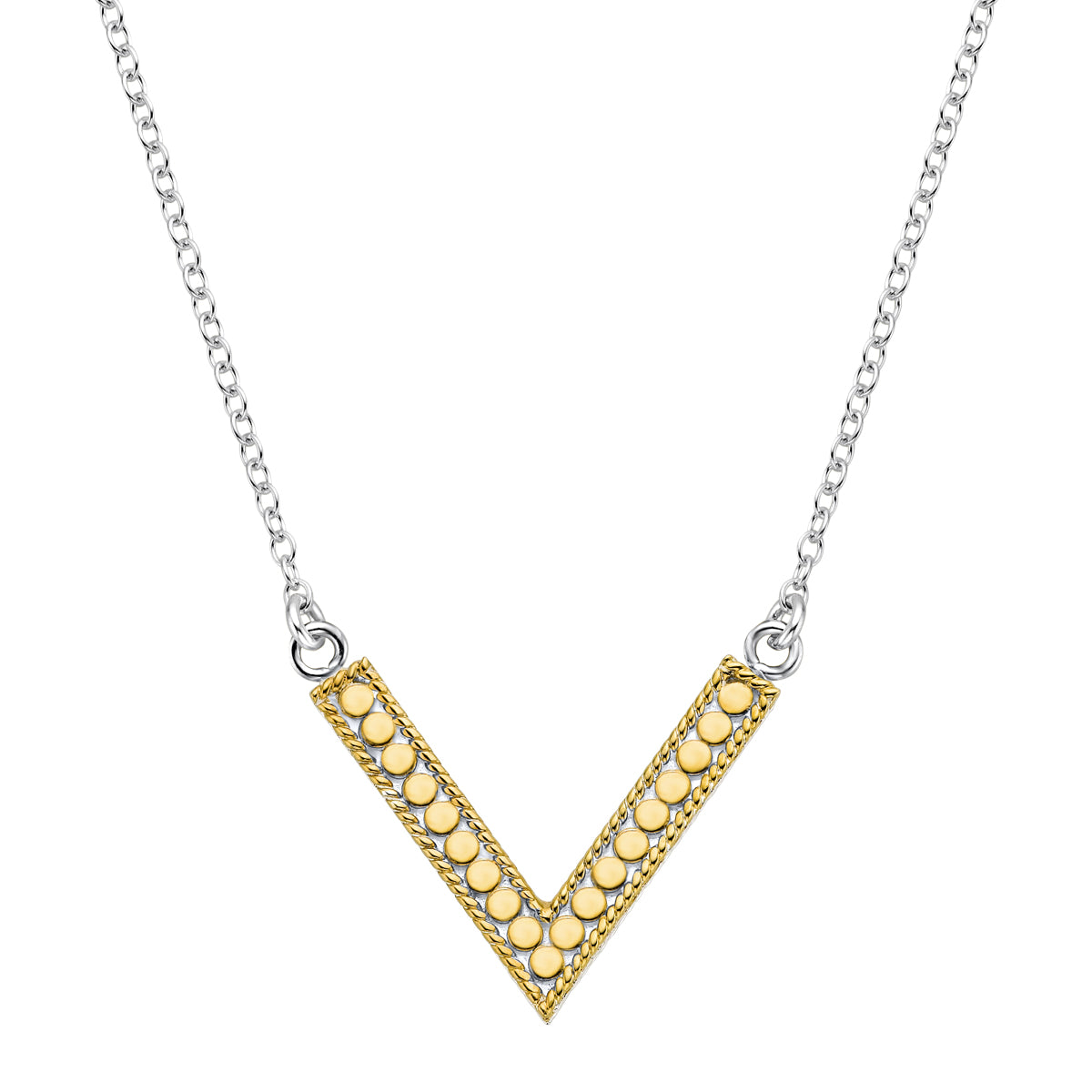 Anna Beck V Necklace Gold