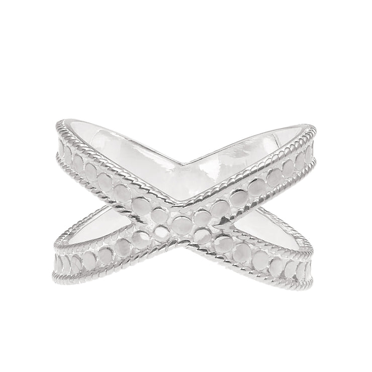 Anna Beck Cross Ring Silver