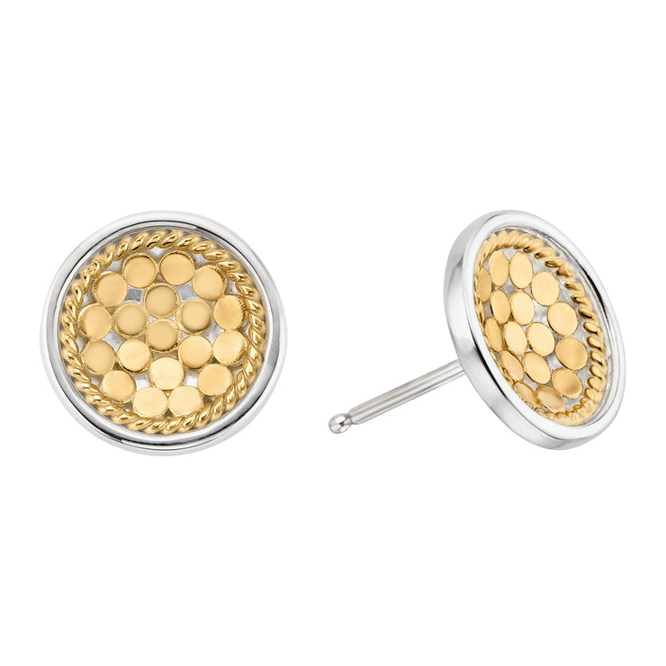 Anna Beck Dish Stud Earrings Gold