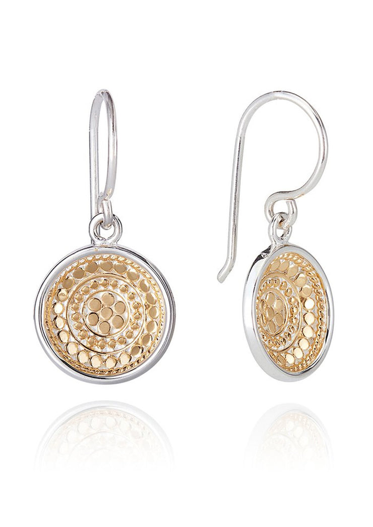 Anna Beck Signature Disk Drop Earrings Gold