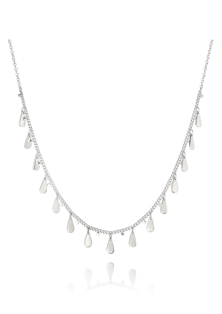Anna Beck Signature Drop Choker Necklace Silver