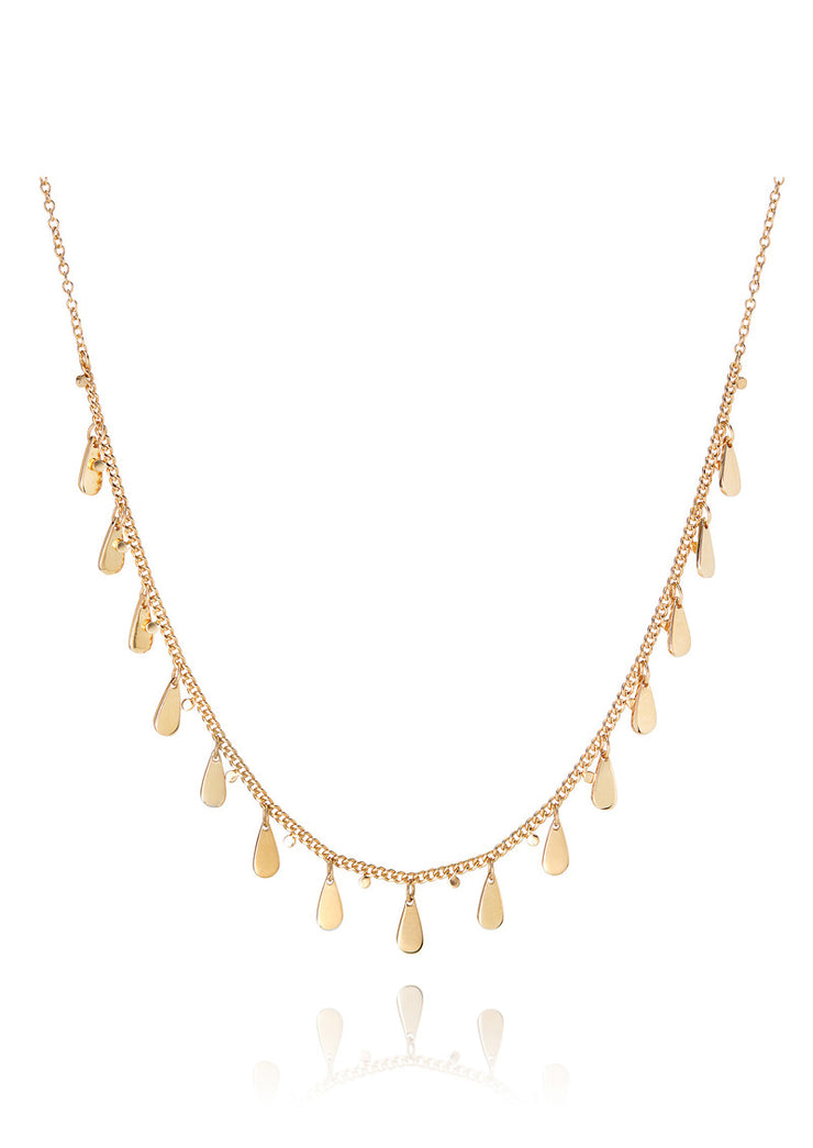 Anna Beck Signature Drop Choker Necklace Gold
