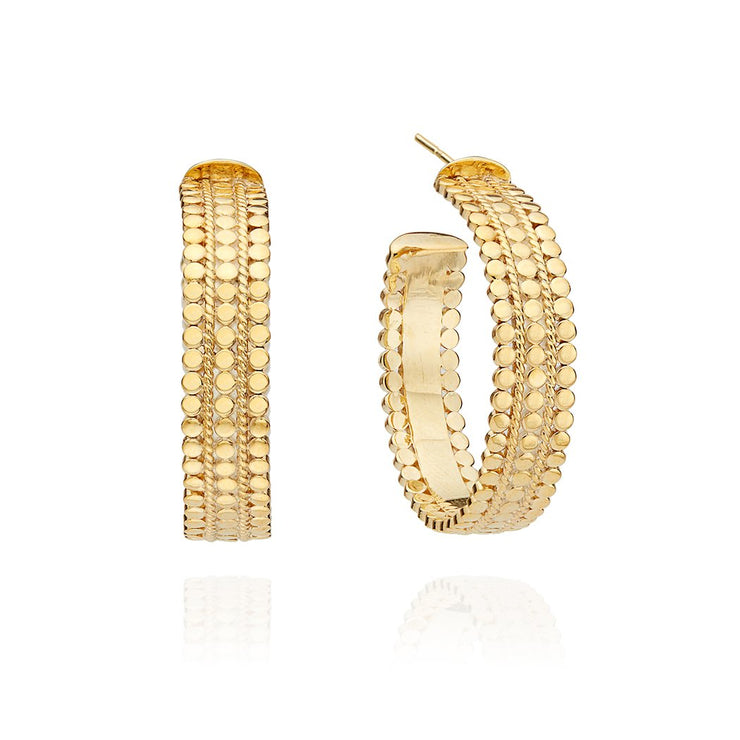 Anna Beck Medium Scalloped Hoop Earrings