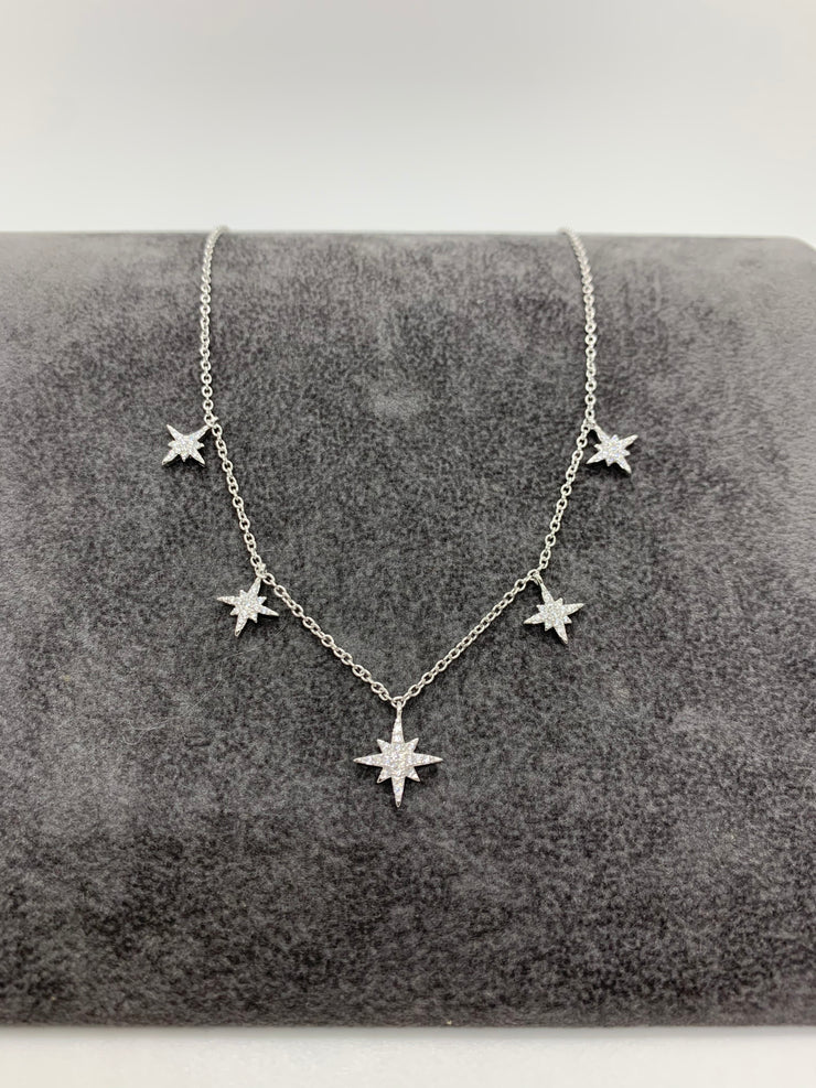 ICANDI ROCKS Valhalia Star Charm Necklace Silver