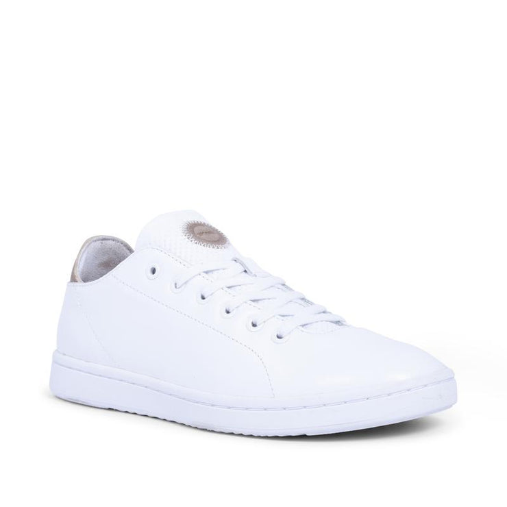 Jane Soft Leather Trainers White