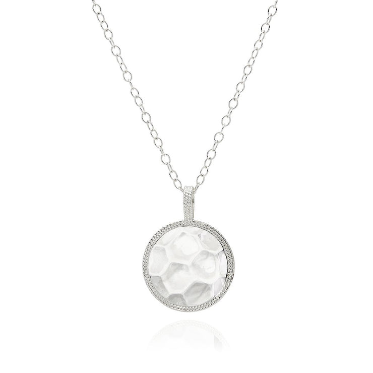 Anna Beck Signature Hammered and Dotted Reversible Pendant Necklace