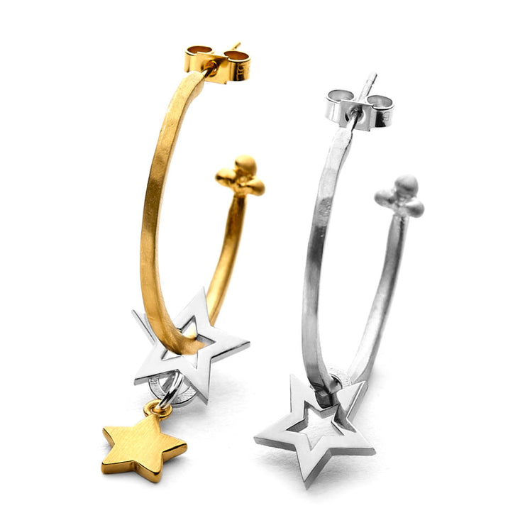 Chambers & Beau Cosmic Hoop Earrings