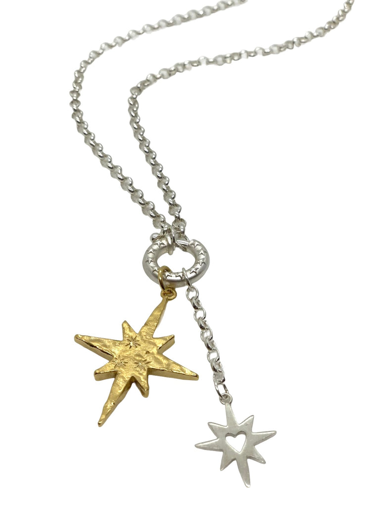 Chambers & Beau Stardust Charm Necklace Silver