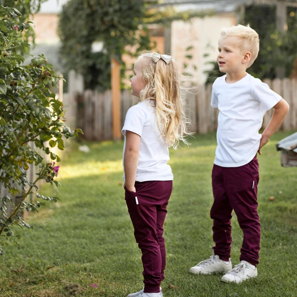 maroon legging harem cotton pants boys girls