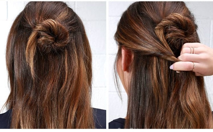 Alia Bhatt Inspired Half Up Bun Step By Step Hair Tutorial