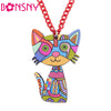 Cute Acrylic Cat Necklace Pendant