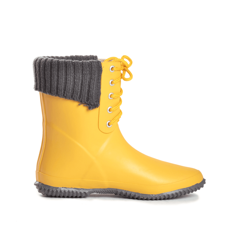 Coachella Lace Butter Yellow Mid Boot