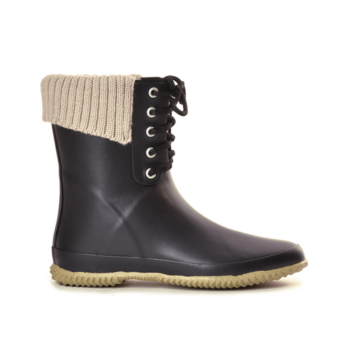 Coachella Lace Black Mid Boot
