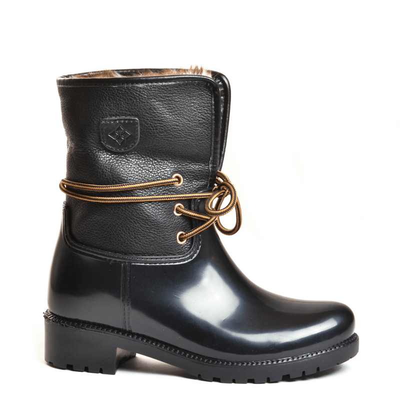 Calgary Mid Pebble Black Mid Boot
