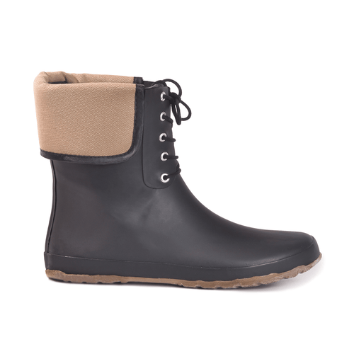 Coachella Canvas Mid Black Mid Boot