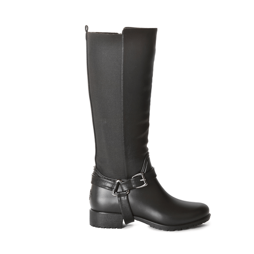 Kingston Solid Black Tall Boot