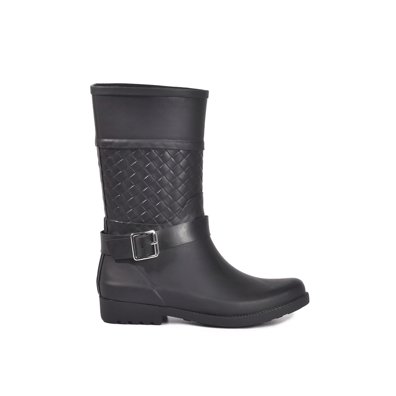 Weston Woven Black Mid Boot