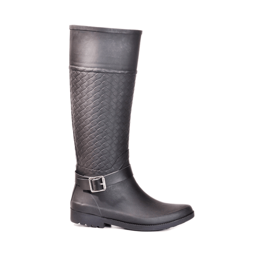 Weston Woven Black Tall Boot