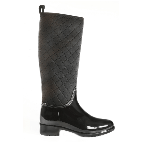 Parma Quilted Black Tall Boot