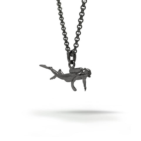 Diver Swimming Pendant