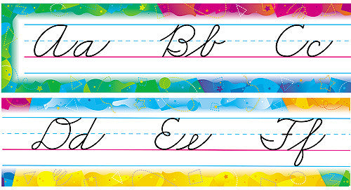 Color Splash Alphabet Line (Zaner-Bloser Cursive)