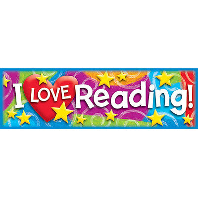 I LOVE Reading (Stars 'n Swirls)