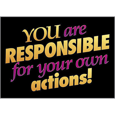 You are responsible for…