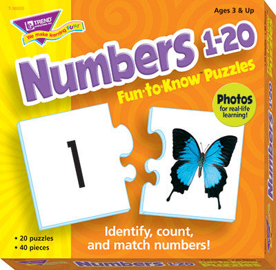 Numbers 1–20