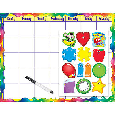 Rainbow Gel Monthly Calendar (Cling Accents)