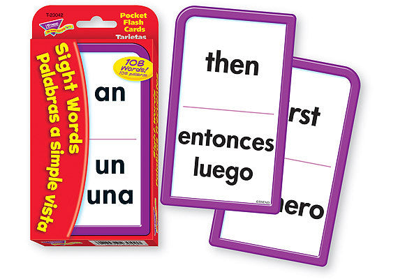 Sight Words/Palabras a simple vista (ENG/SP)