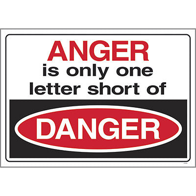 Anger is only one letter…