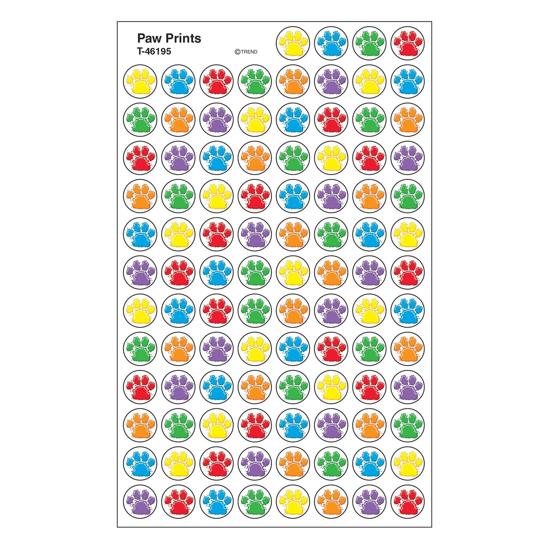 Paw Prints superSpots® Stickers