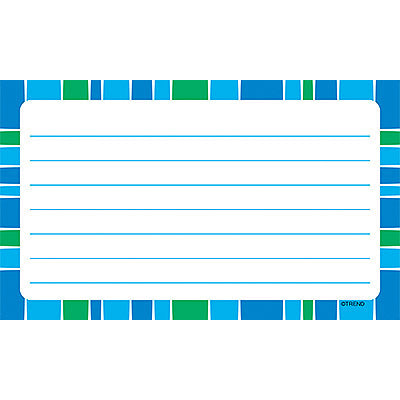 Stripe-tacular Cool Blue Lined Terrific Index Cards™